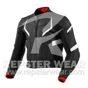 Repster Black Motorcycle racing leather jacket