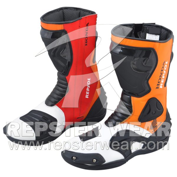 Honda Repsol Motorbike Racing Leather Boot