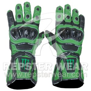 Kawasaki Monster Energy Leather Gloves