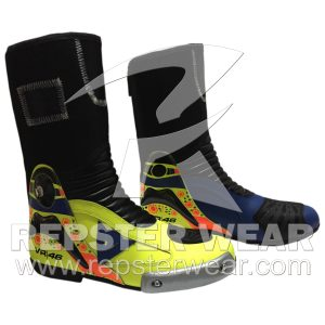 Valentino Rossi Motorbike Racing Leather Boot