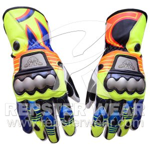 Valentino Rossi Motorbike Leather Gloves