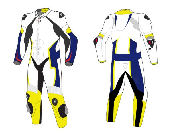 Motorcycle Racing Leather Suit C2 -Repsters Custom Motorcycle Suit
