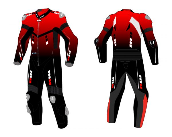 Motorcycle Racing Leather Suit C8 -Repsters Custom Motorcycle Suit