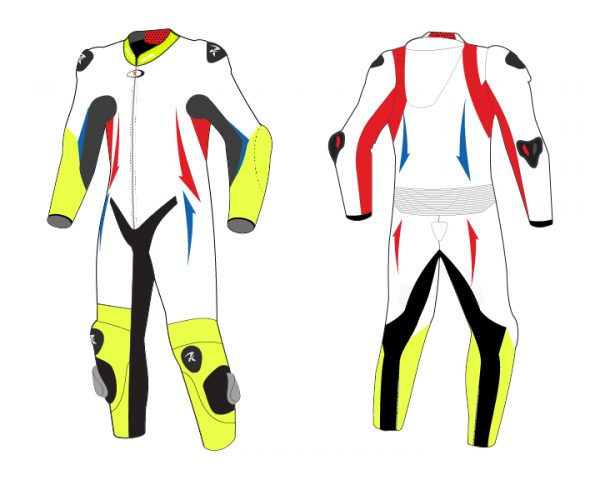 Motorcycle Racing Leather Suit C9 -Repsters Custom Motorcycle Suit