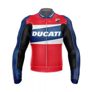 Ducati R20 Motorbike Racing Leather Jacket 2021