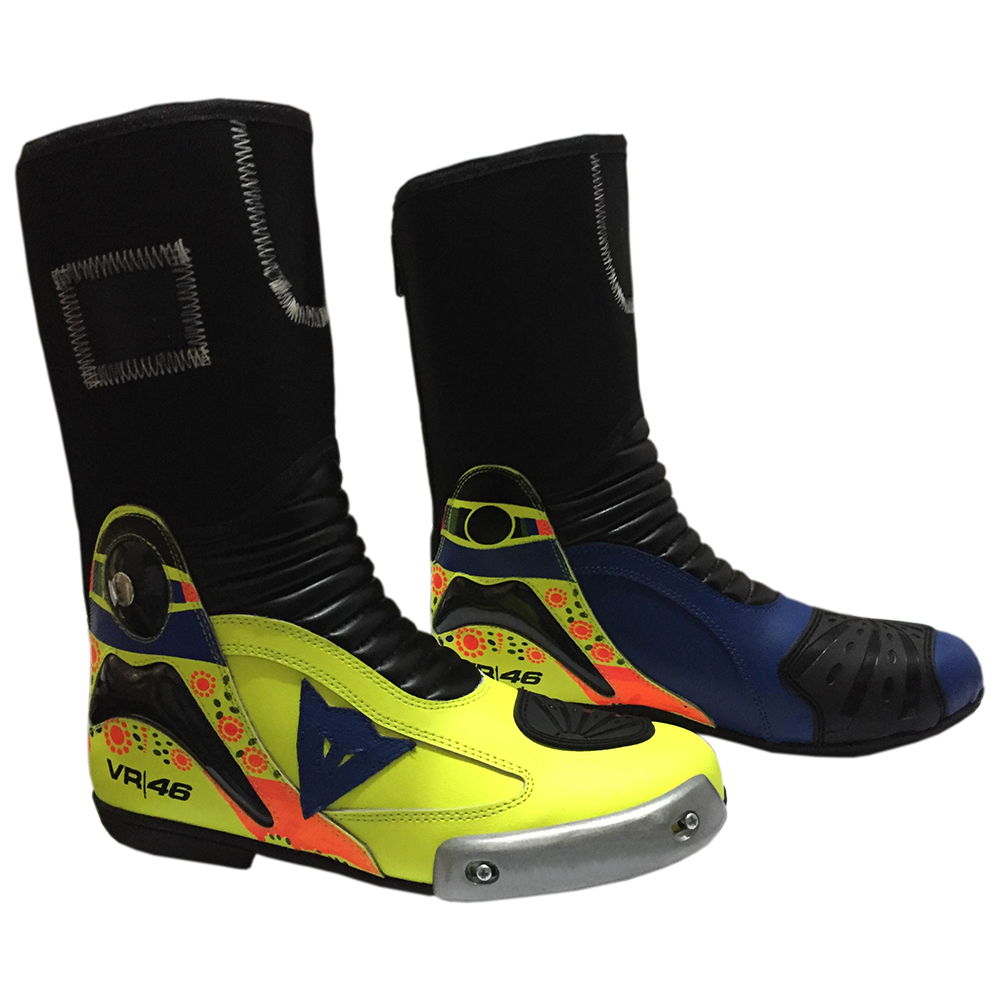 Rossi-Motorbike-Racing-Leather-Boots-2014-0